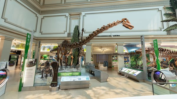 Dinosaur Hall, Smithsonian National Museum of Natural History, photo courtesy of the Smithsonian Institution