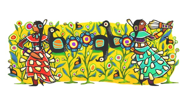 Celebrating the Jingle Dress Dance - Image Credit: Google Doodle