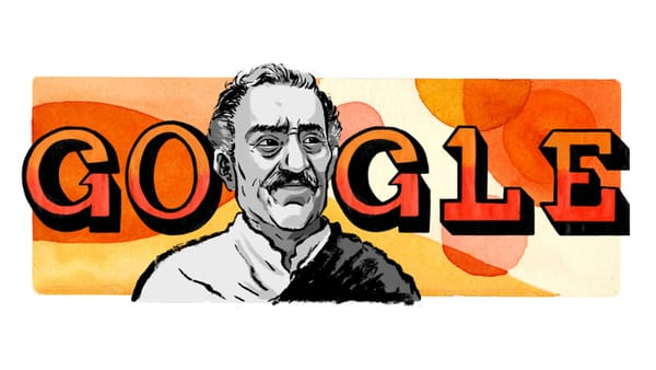 Amrish Puri, Legendary Bollywood Actor - Image Credit: Google Doodle