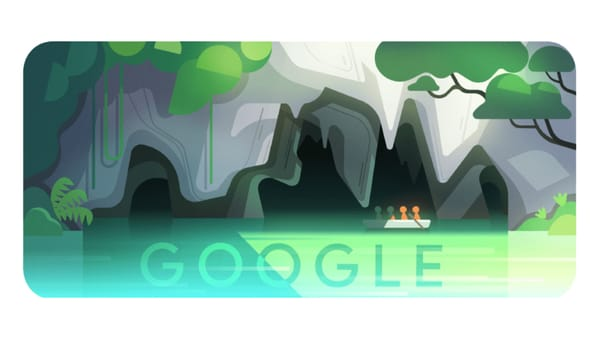 Puerto Princesa Underground River: One of the Longest Underground Rivers in the World - Image Credit: Google Doodle