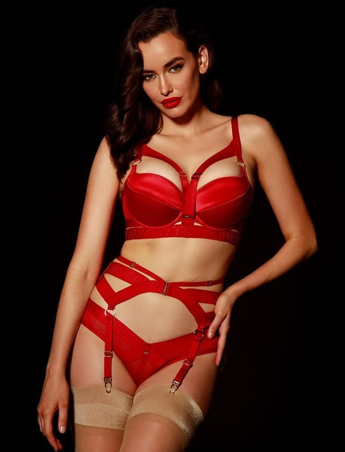 Honey Birdette - Lingerie - Elvis Red 3 Piece Set