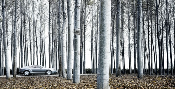 Favourite location image - Bentley Continental GT - shot in Spain for the new model global launch - Photo by Nigel Harniman