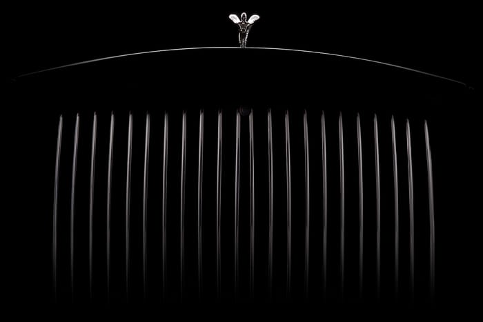 Favourite studio image - Rolls-Royce new Phantom Grille - Great Phantoms UK studio shoot - Photo by Nigel Harniman
