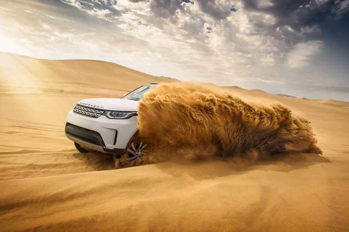 Land Rover Discovery in Namibia - Photo by Nigel Harniman
