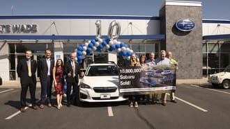 Subaru Celebrates the Sale of its 10-Millionth Vehicle in the US