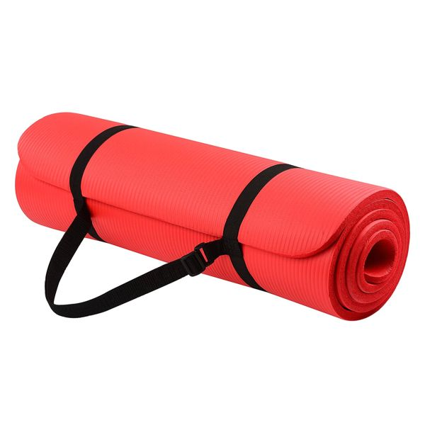 BalanceFrom Yoga Mat with Carrying Strap